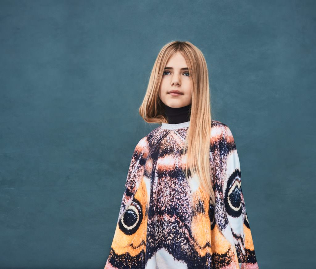 Molo's classic animal print new in a kids cape style for winter 2017