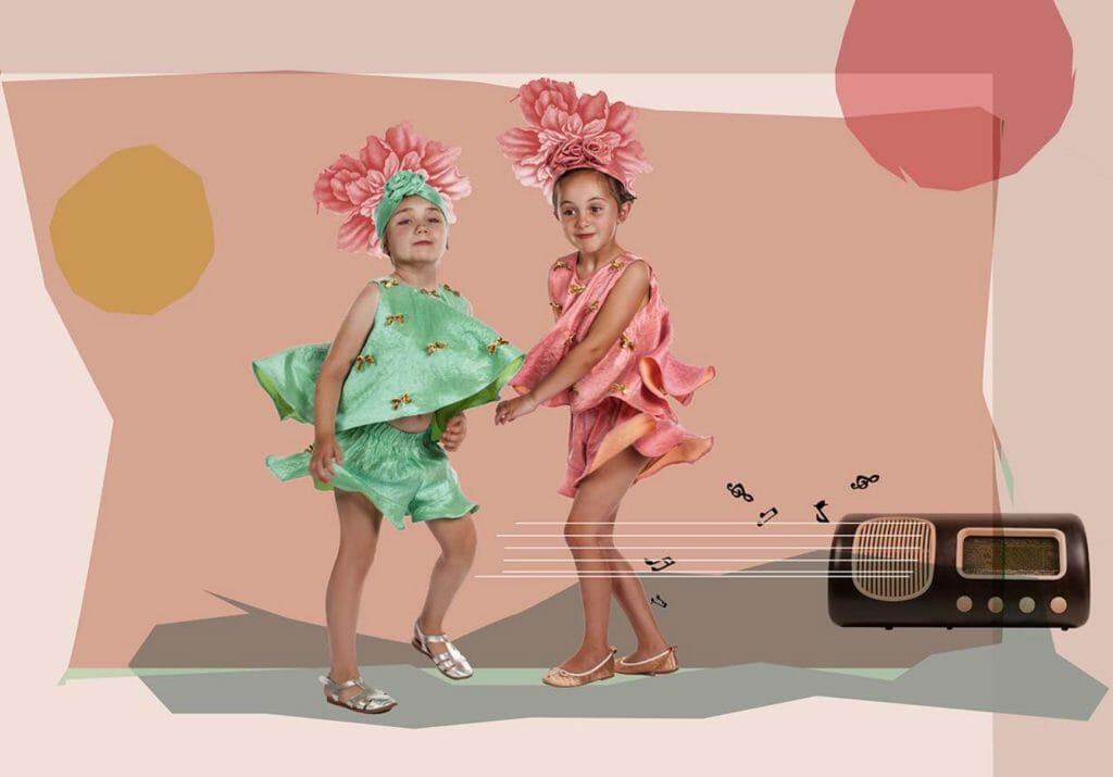 Inspired by the Jazz Age and Latin Jazz, Raspberry Plum for SS18 kids fashion