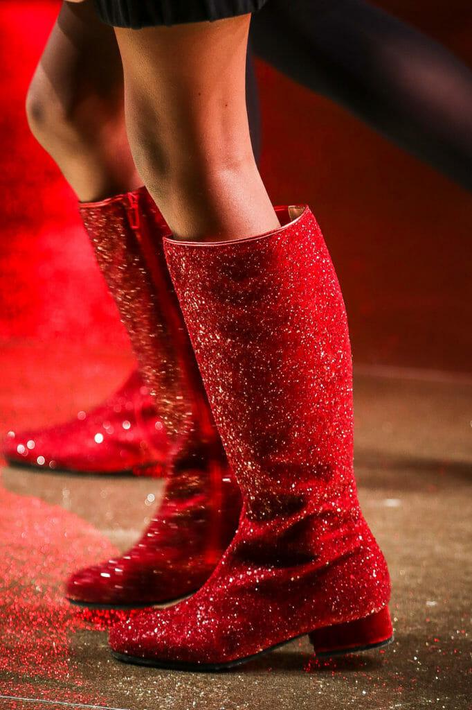 Amazing glitter boots at Monnalisa for kids footwear winter 2018