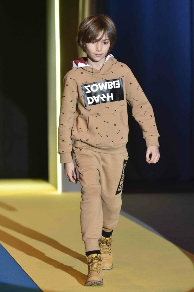 Logo mania and sports styling from Zombie Dash for boyswear fall 2018