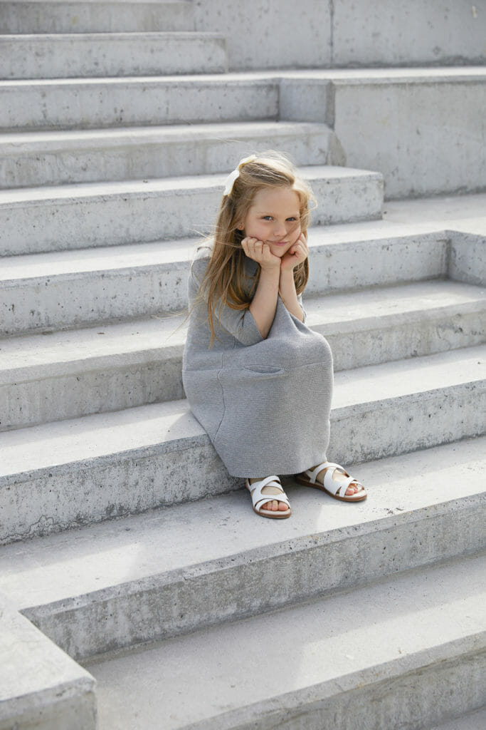 Chic sweater dress from As We Grow for kidswear spring 2018