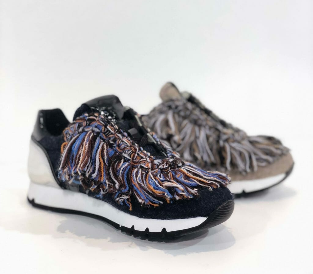 A new label for Falc - Voile Blanche launch a kidswear line from their womenswear collection with amazing fringed trainers for AW18