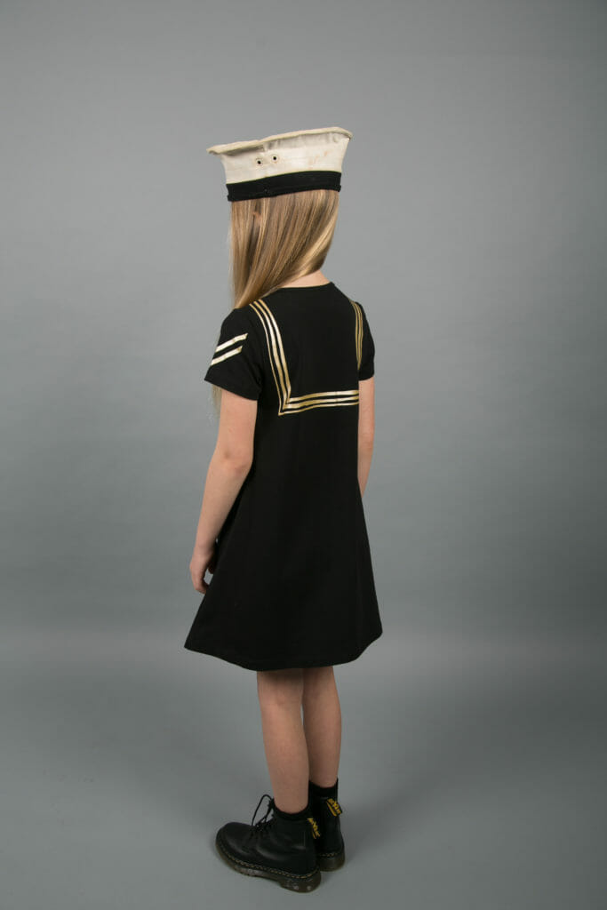 The Carbon Soldier SS18 kids fashion collection collection has touches of naval inspiration on collars and sleeves