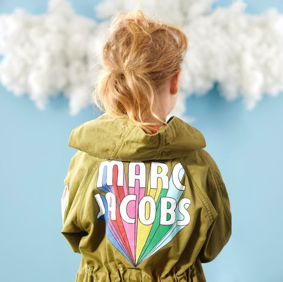 Rainbow logo's at Little Marc Jacobs spring/summer 2018