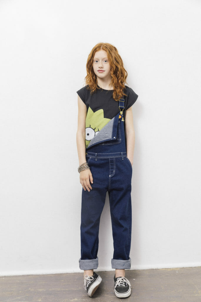 Peek a Boo Lisa from The Simpsons x Finger in the Nose SS18 kidswear