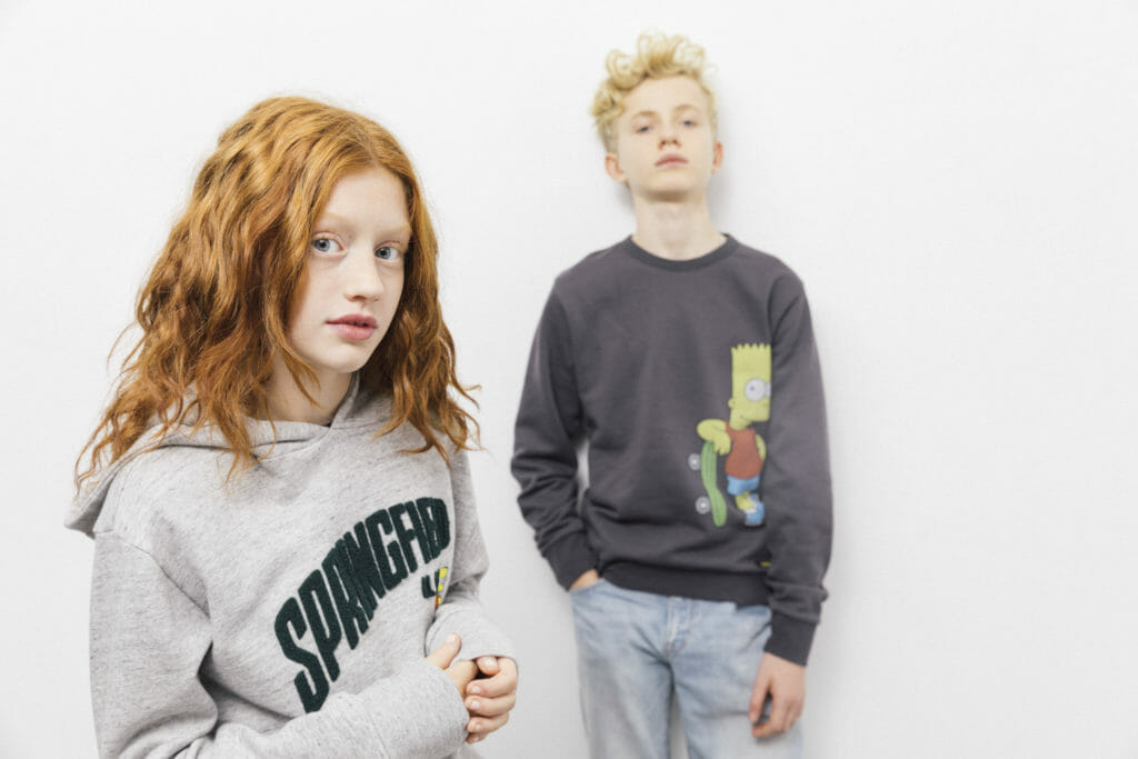 The collaboration is for boys and girls with sizing from s-xl