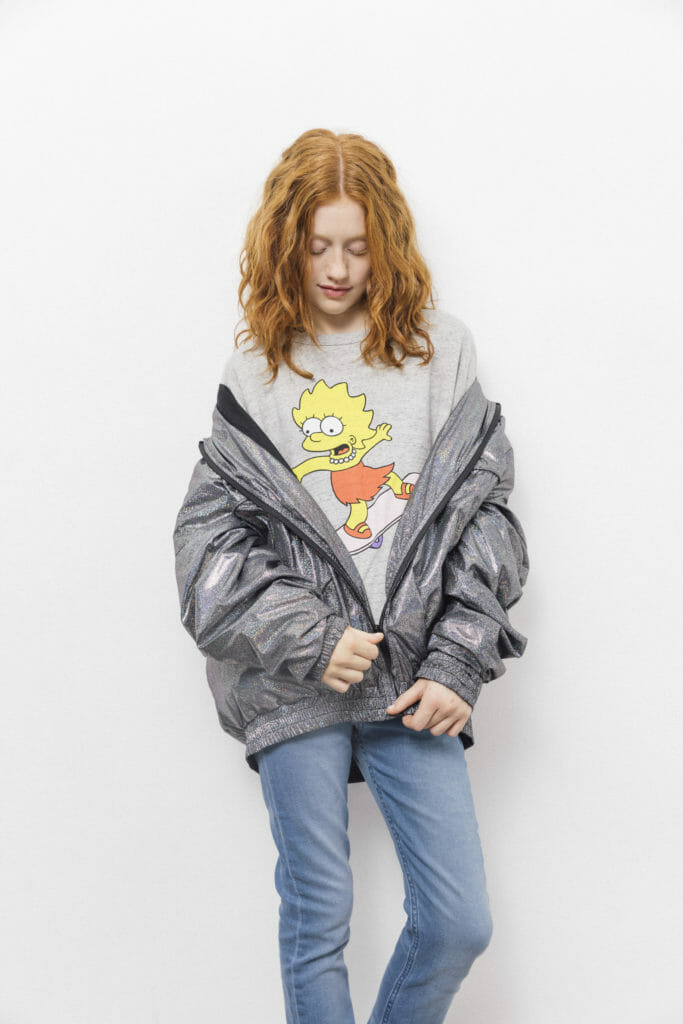 Hologram hooded rainjacket by The Simpsons x Finger in the Nose spring 2018