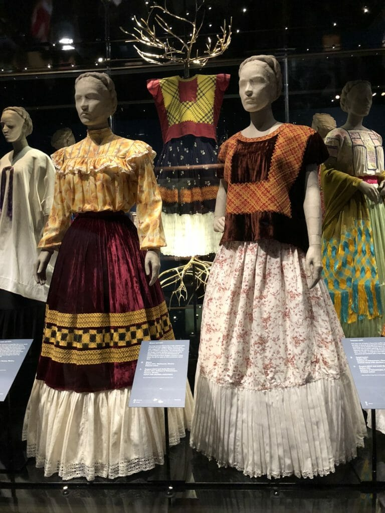 Tabard square tops are known as huipiles, from Frida Kahlo - Making Herself Up at the V&A Museum till November