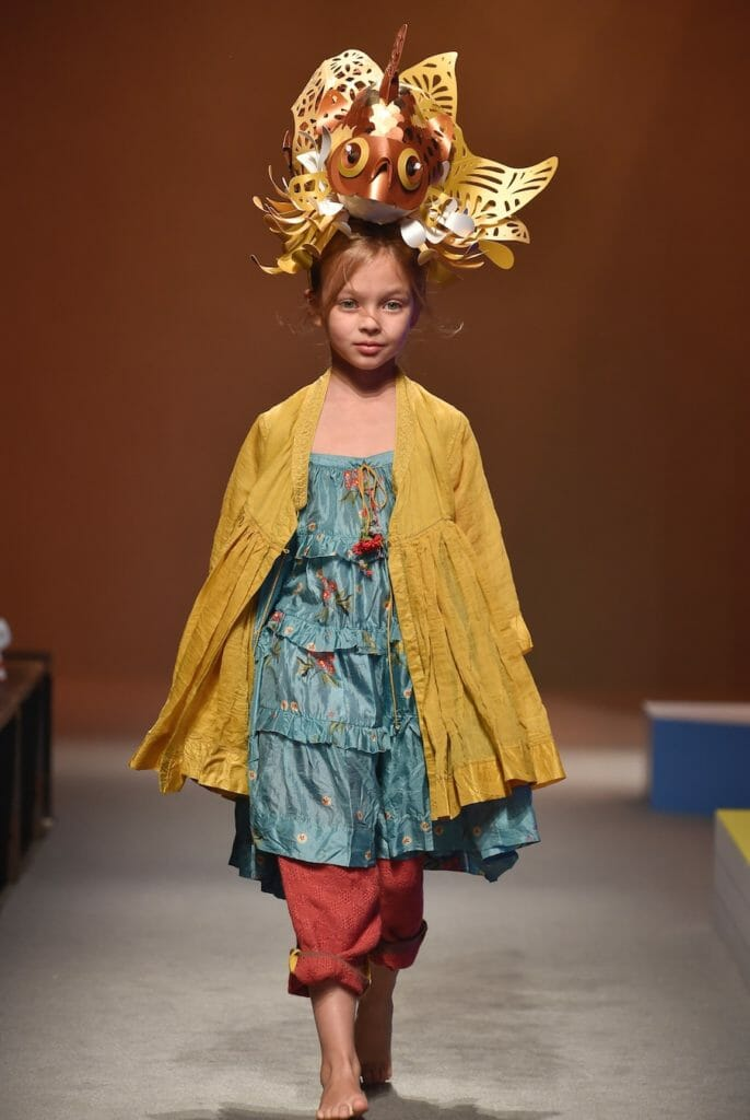 Always creative Pero showed stunning cut out headdresses for their artisan layered look at Pitti Bimbo 87