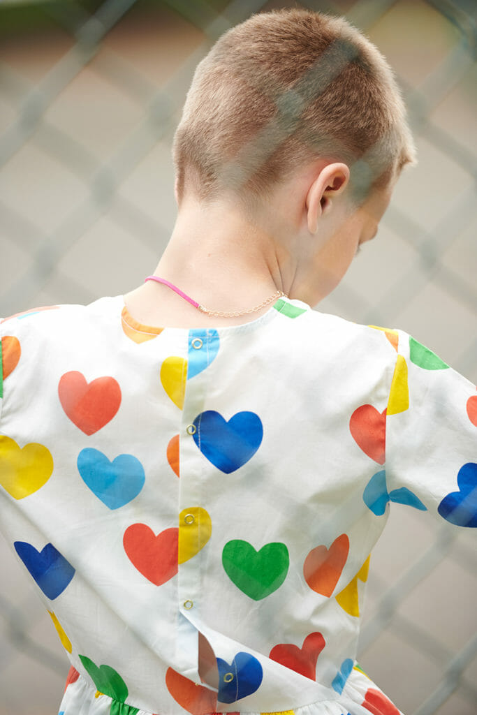 Heart print dress by Mini Rodini, styled by Kate van der Hage for ET Magazine new issue