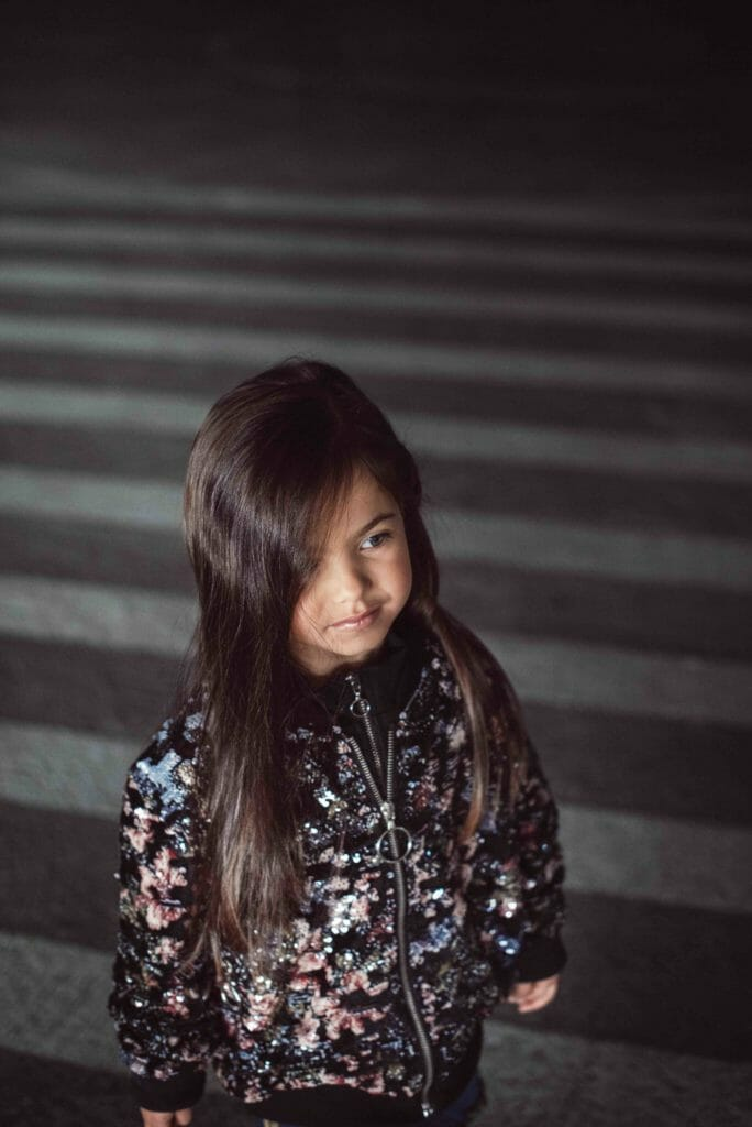 Decorated bomber jacket for girlswear FW18 at Andorine