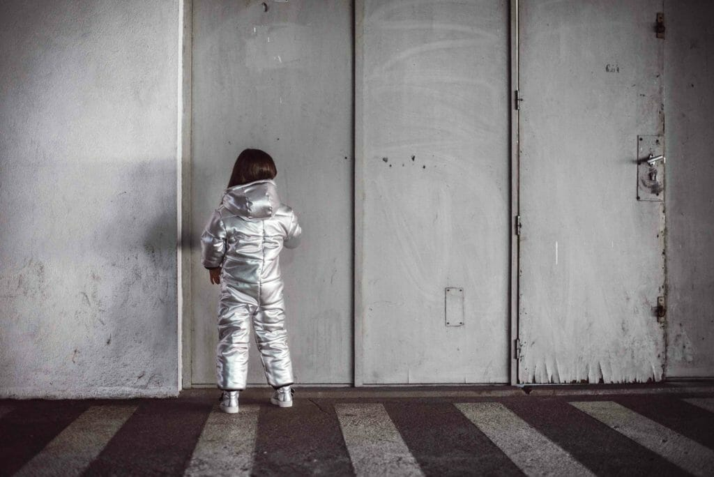 Amazing silver snowsuit from Andorine for kids fashion winter 2018