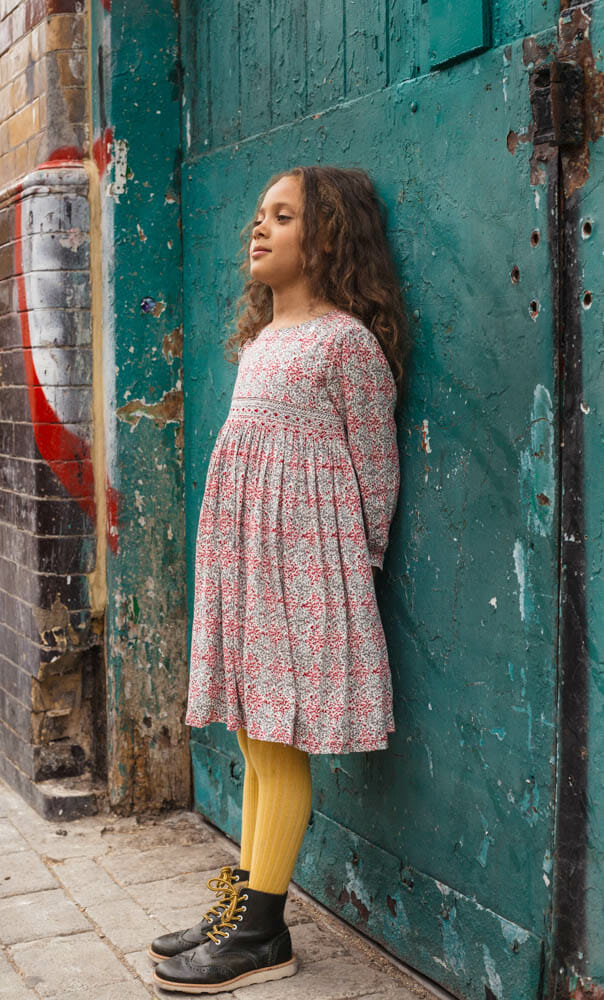 Signature smocked dress style from Question Everything for FW18