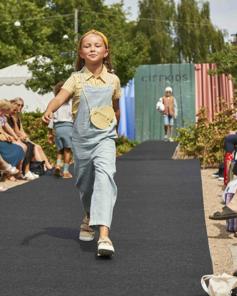 Kids catwalk trends at Ciff Kids for Ss19 - Shirt – Hannah & Tiff, Jumpsuit - Mimii, Headband – Soft Gallery, Shoes - RAP
