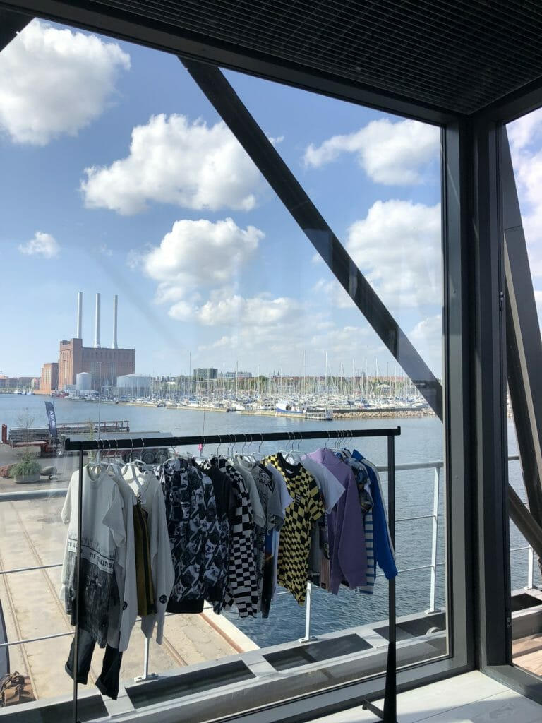 Boyswear by Molo for spring/summer 2019 with a classic Copenhagen background of the developing Nordhavn dock area