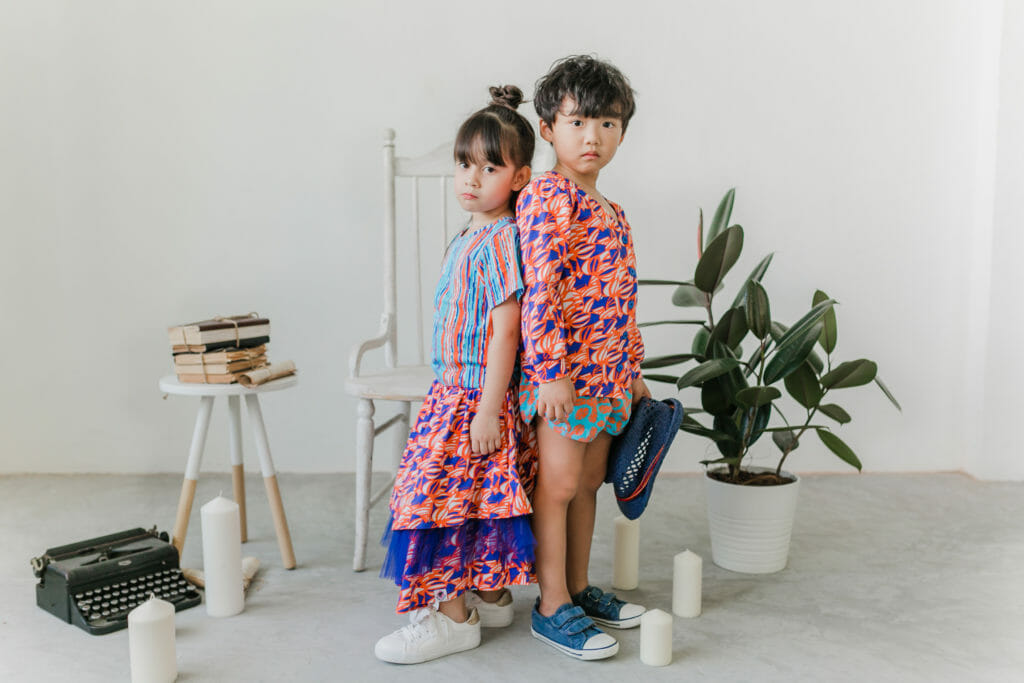 Styles are unisex with boys and girls sharing the same print colourways at Roses & Rhinos
