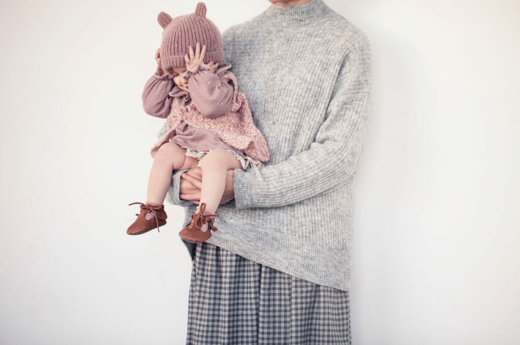 Baby styles reflect the kidswear in super mini me versions at Tocoto Vintage fall 2018