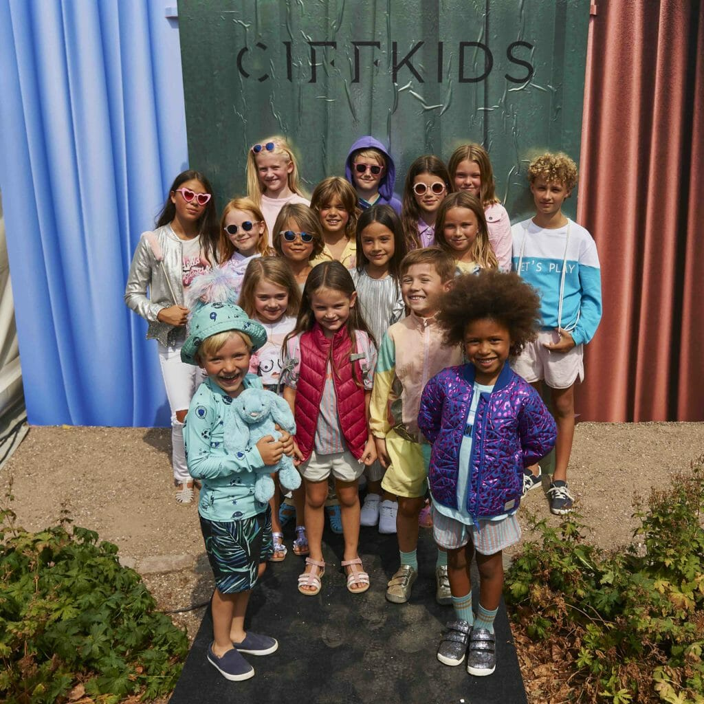Sweet group shot from the CIFF Kids SS19 kids fashion catwalk