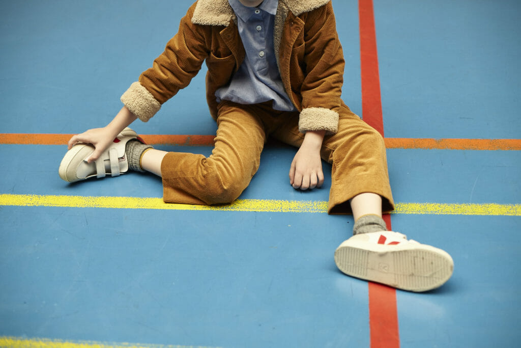 Retro cord, a popular trend for kidswear fall 2018 here from Bellerose