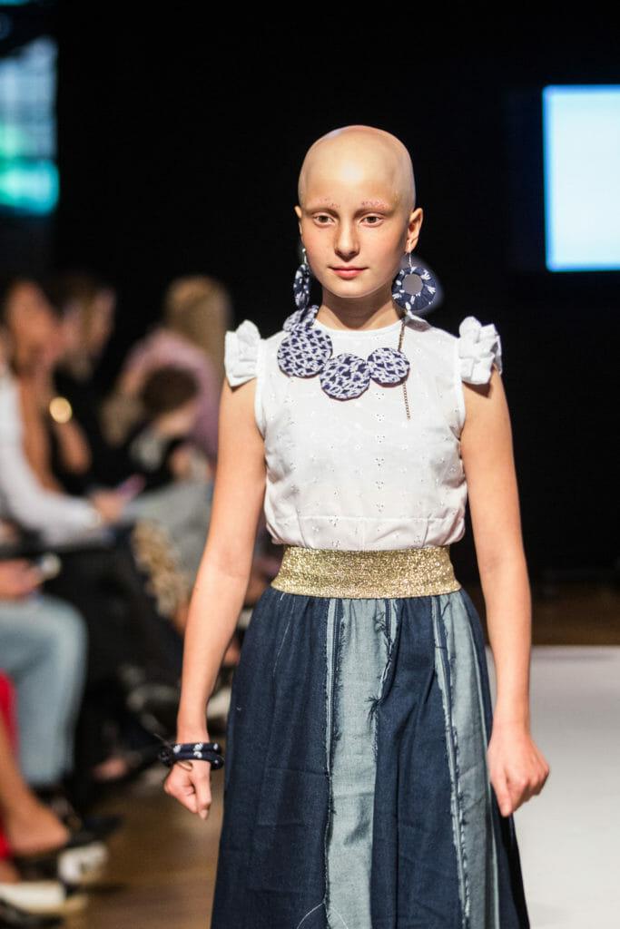 Iscream denim mix skirt for SS19 at Mini Mode photo by Santoshi Padhiar