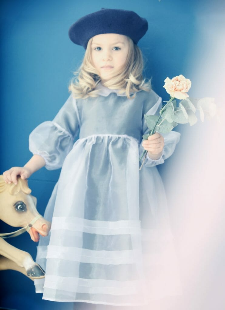 Beautiful party dress by Iglo+Indi for winter 2018 kids fashion