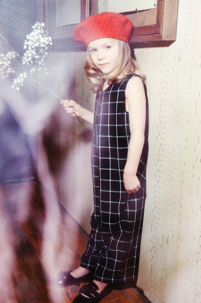 Plaid all in one from Icelandic kids fashion brand Iglo+Indi