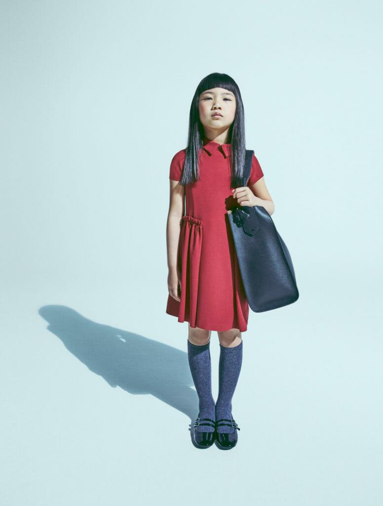 Oversized accessories for Emporio Armani kidswear winter 2018
