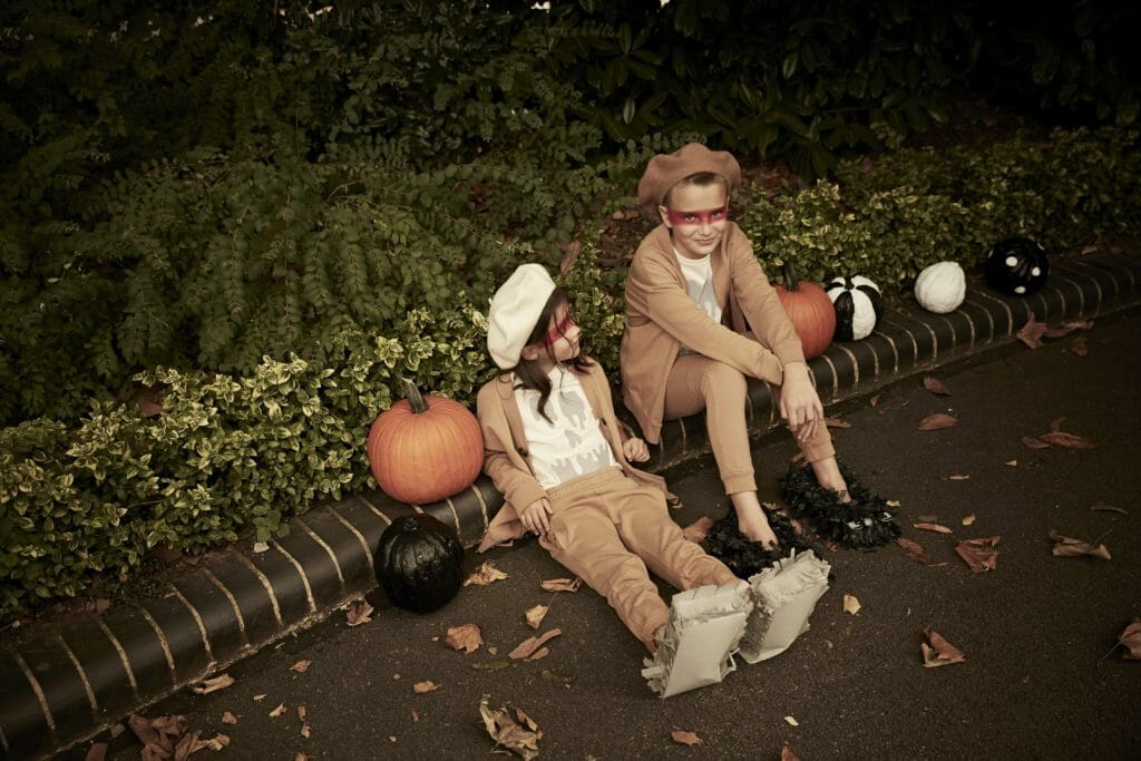 Cool unisex styling for Halloween by Deborah Sfez for Stella McCartney