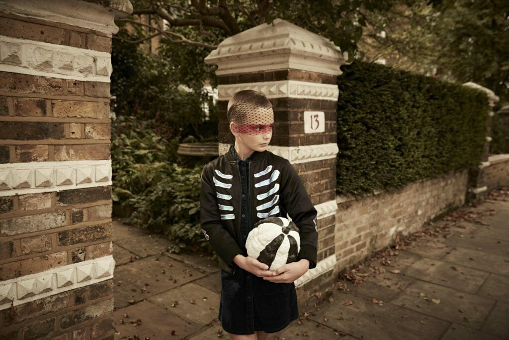 Painted Pumpkin and painted look pirate jacket shot by Ulla Nyeman for Halloween 2018