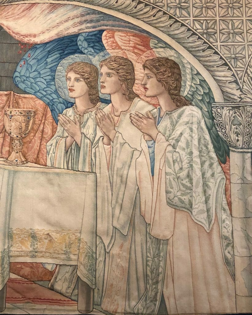 Detail from The Holy Grail tapestries, Edward Burne-Jones 1894 at Tate Britain from October 24th
