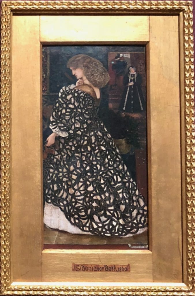 An early watercolour work of Edward Burne-Jones from 1860 based on the gothic tale Sidonia the Sorceress at Tate Britain