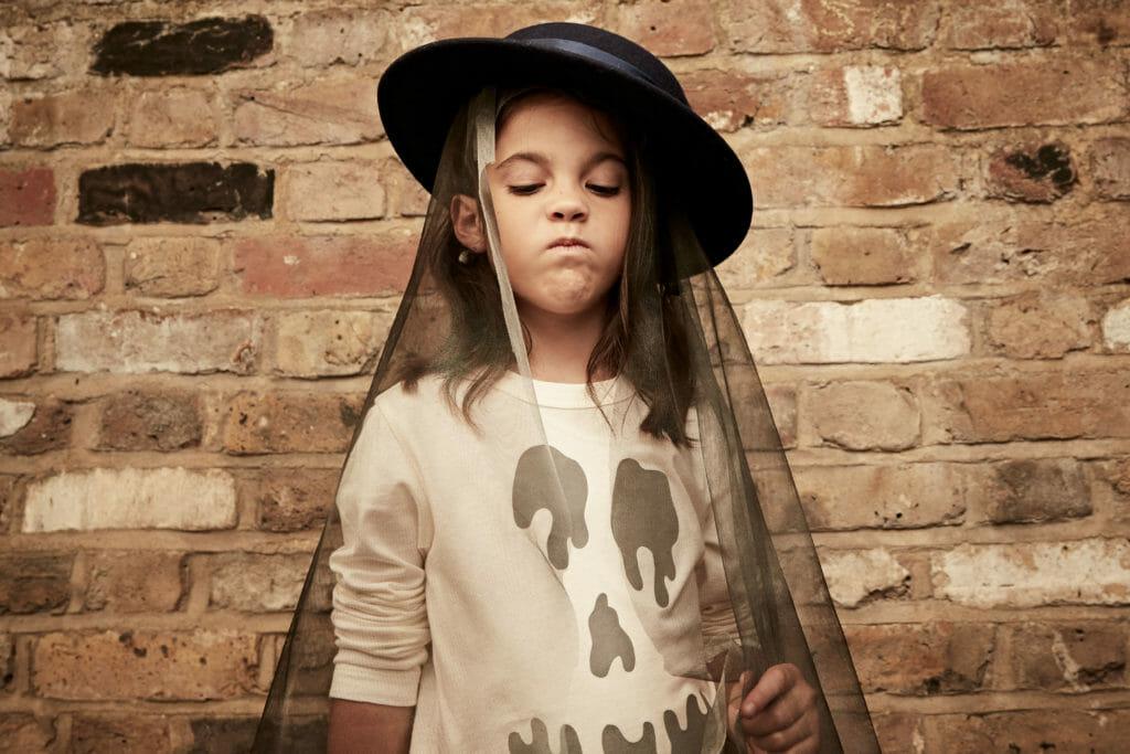 Goth style halloween for Stella McCartney kidswear