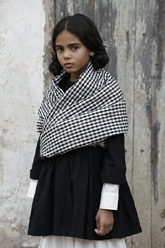 Stripes and gingham checks also feature for winter 18 at Little Creative Factory