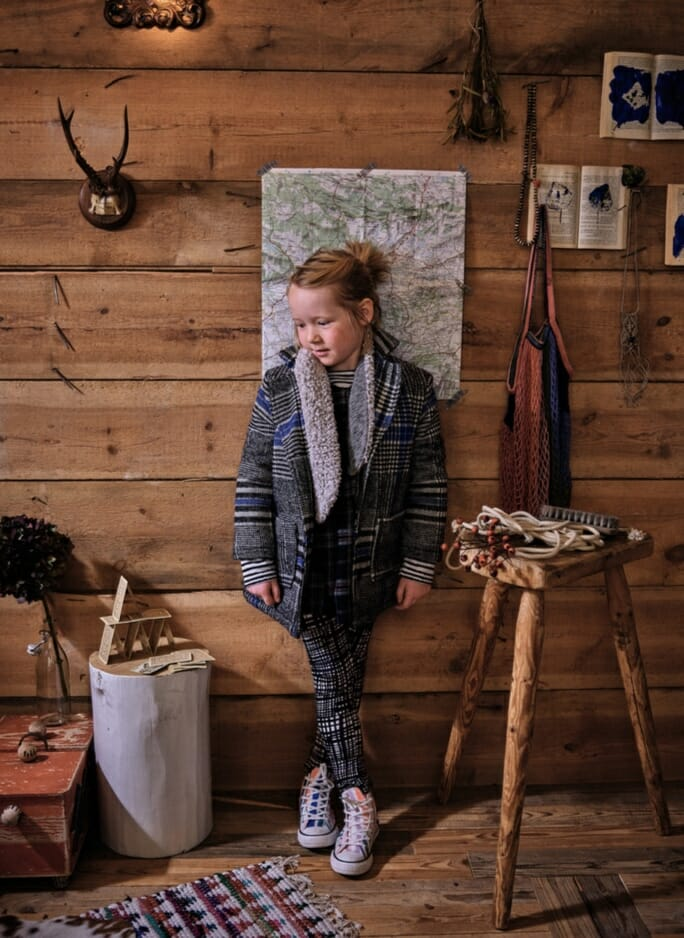 Plaid checks at Noe & Zoe, one of the key kids fashion trends for 2018