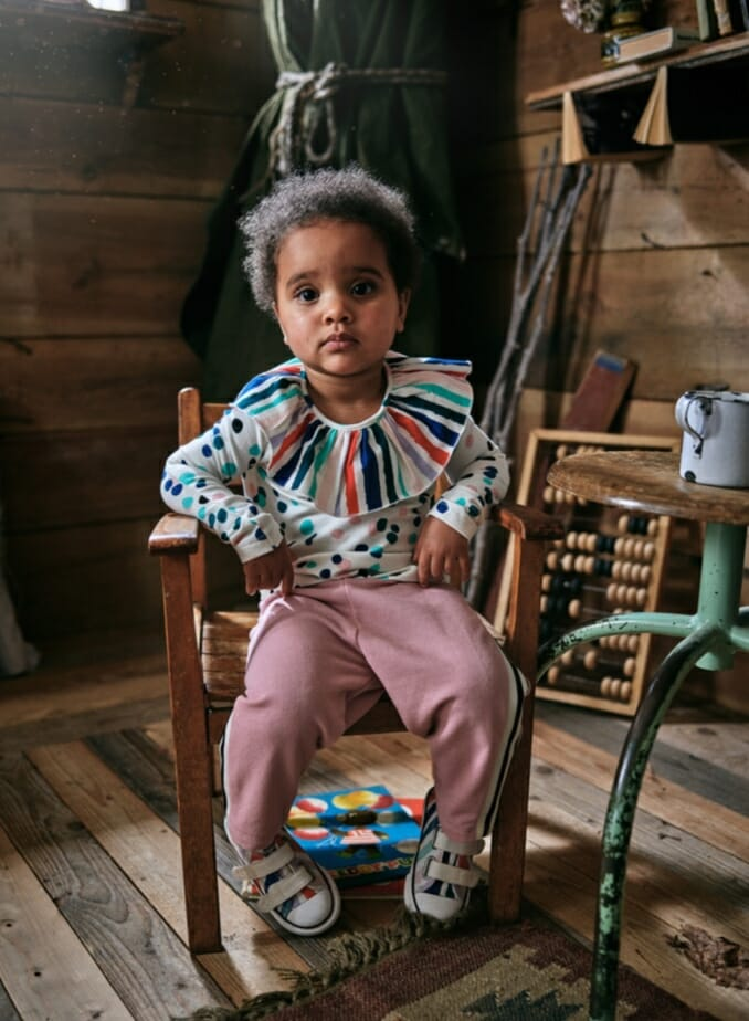 Sweet multicoloured toddler fashion at Noe & Zoe