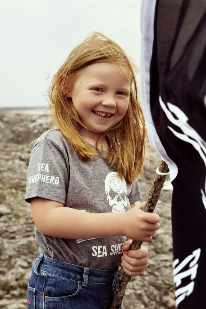 A short sleeve T-shirt from the collaboration between Mini Rodini and Sea Shepherd