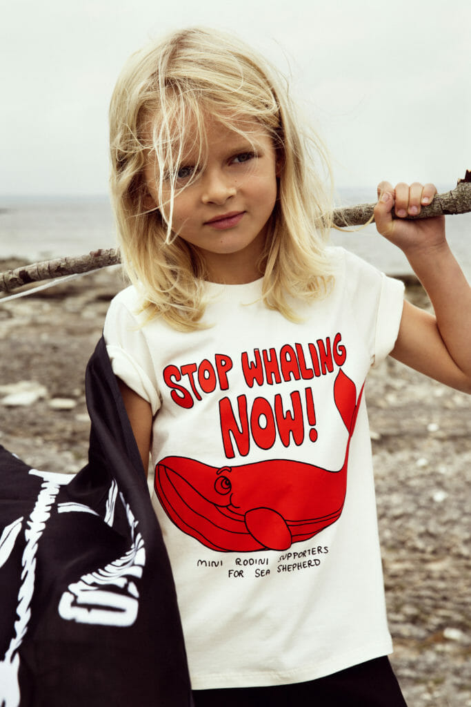 Activist T-shirts by Mini Rodini for Sea Shepherd