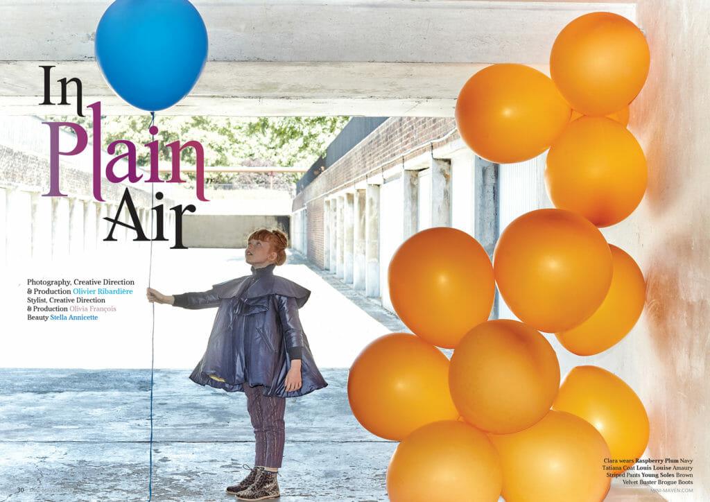 Kids fashion editorial for Mini Maven magazine fall/winter 2018