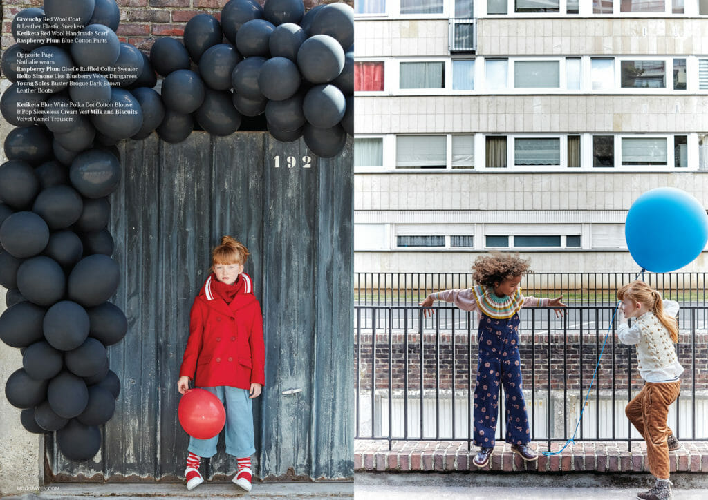A new take on the balloon prop fashion story with kids for FW18