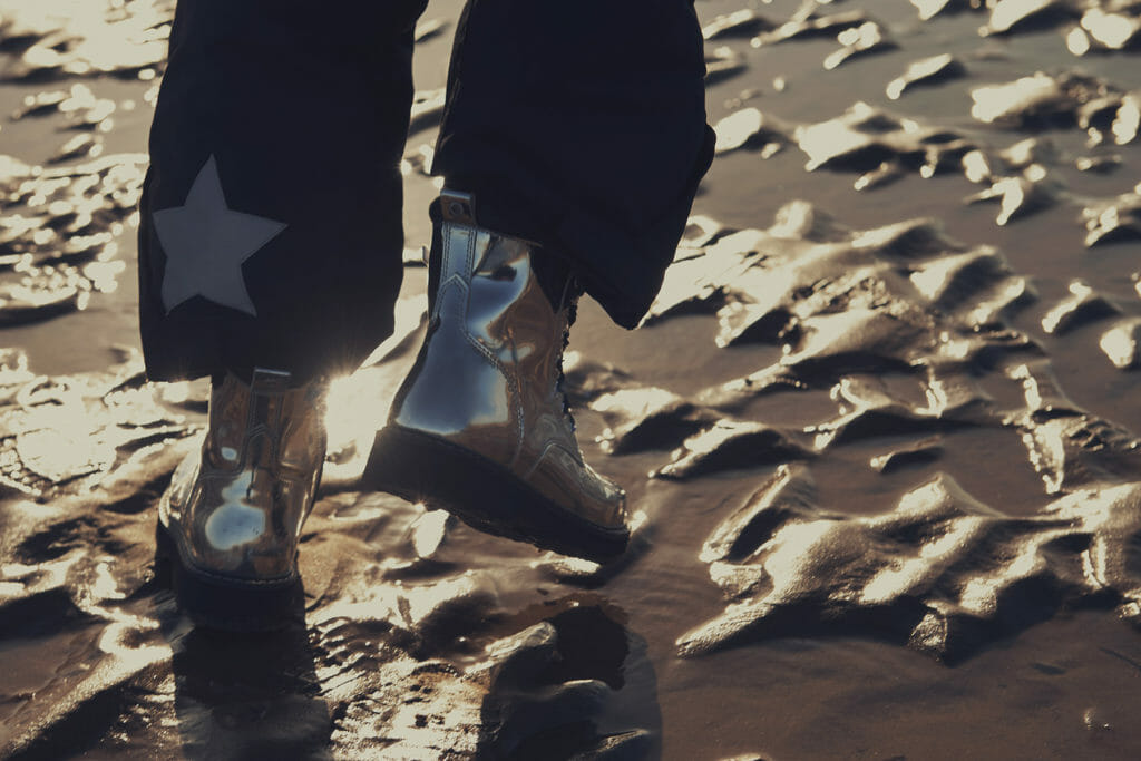 Lunar by Klass Strom for Childrensalon featuring Unisex silver boots by Diesel