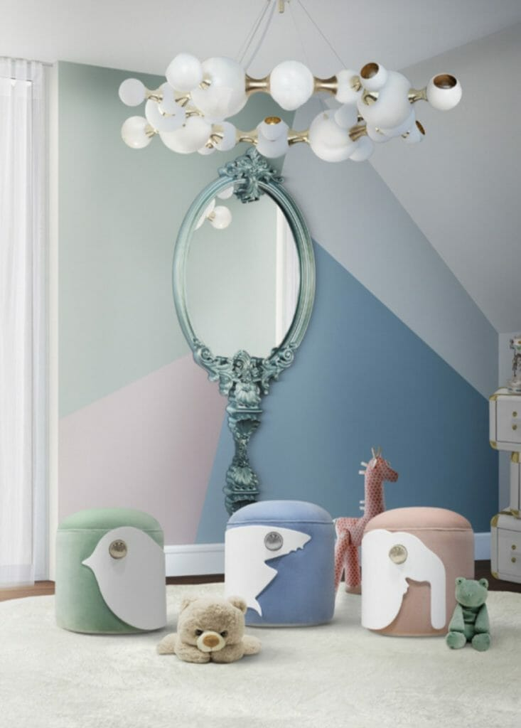 Dreamy Christmas kids interiors from Circu Collection with cute animal stools