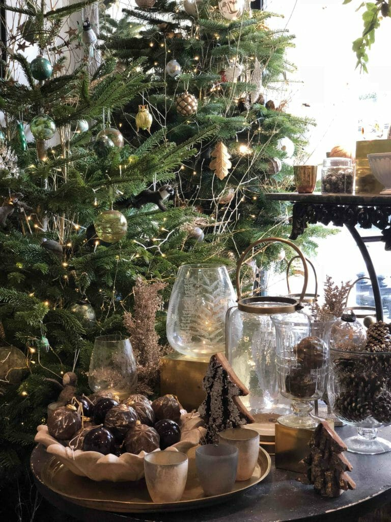 Classic gold and neutral colourways for Christmas 2018 at Petersham Nurseries