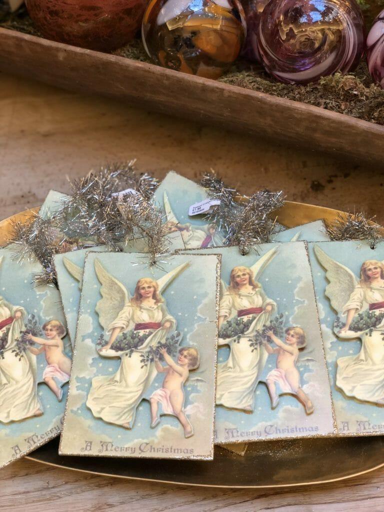 Victorian style Christmas cards at Petersham Nurseries