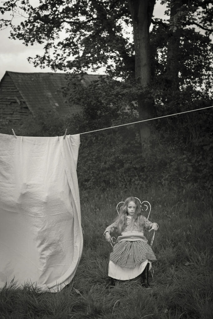 "Inspired by the artistic photographer Sally Mann, ""Washday"" was shot for Luna Magazine by Abi Campbell"