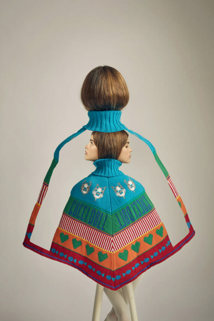 Love Story 70's inspiration with a Gucci Kids poncho from Childrensalon