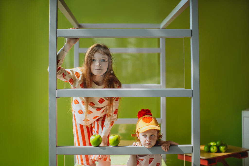 Fun perspex screen bed in a shoot by Dasha Pears