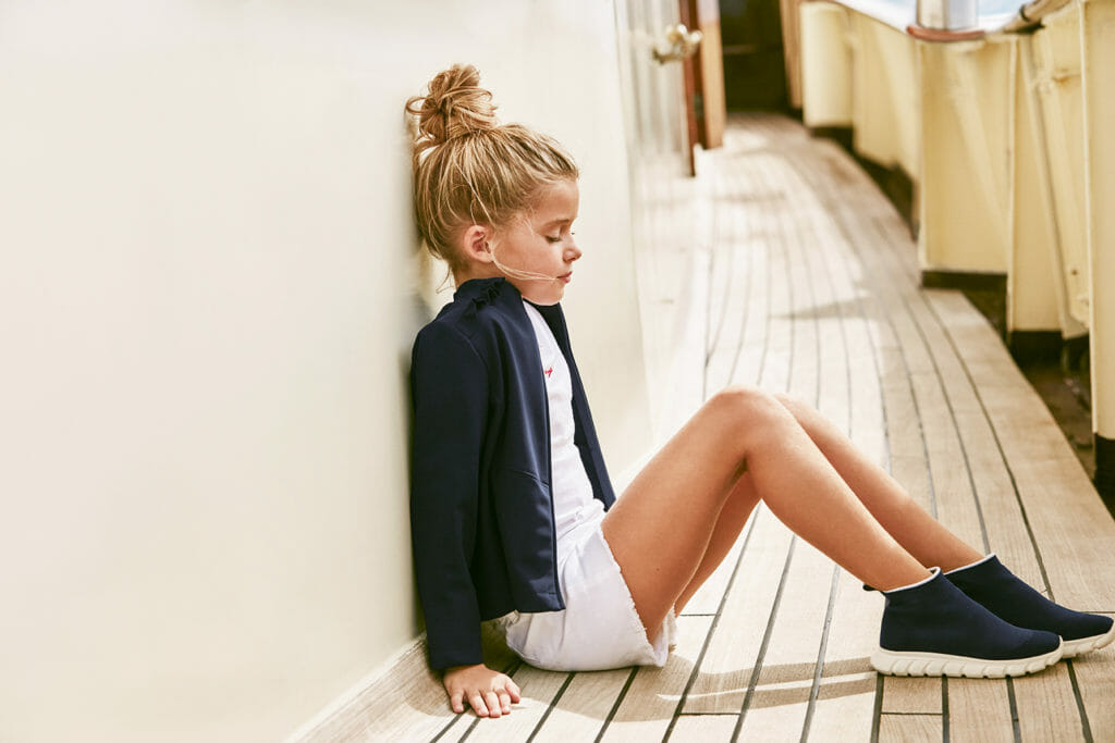 Shipshape deck style in casual mode at Il Gufo kids fashion for SS19