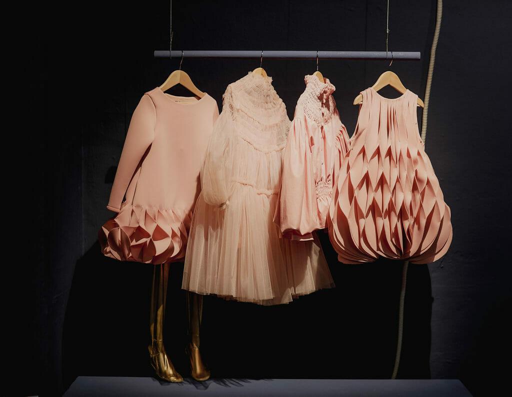 Beautiful Nikolia girls couture at Pitti Bimbo 88 by Abi Campbell