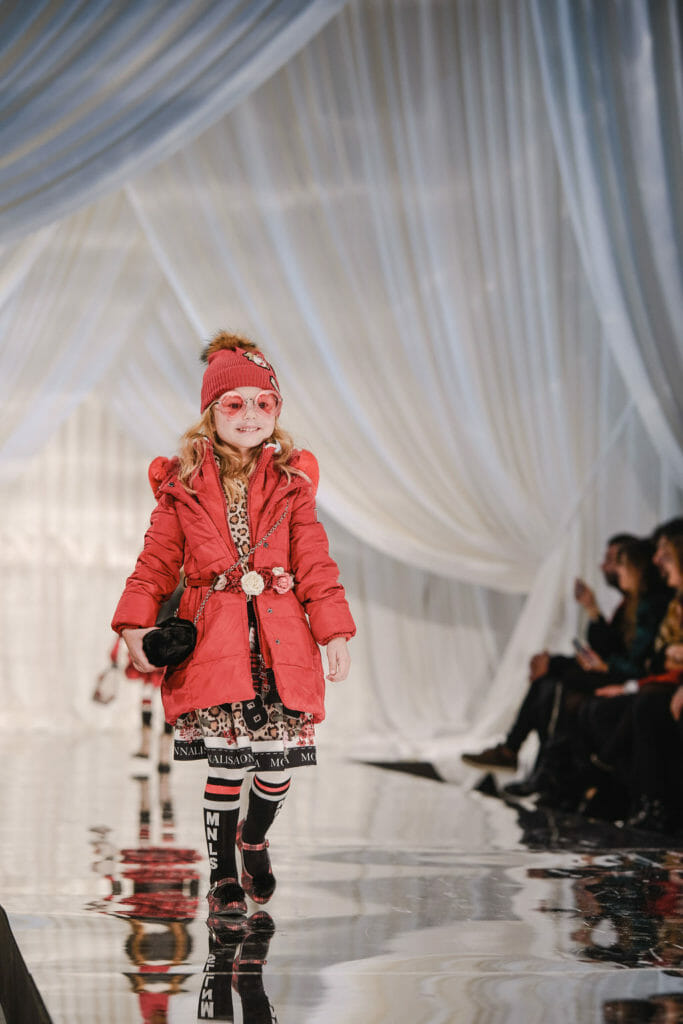 Cute accessories overload at Monnalisa FW19 kids fashion catwalk