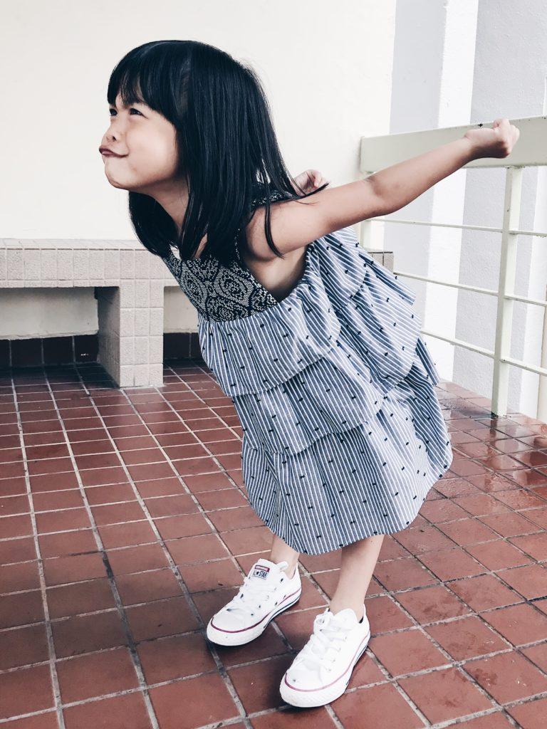 Easy to wear triple ruffle dress from Cavalier for summer 2019 kidswear